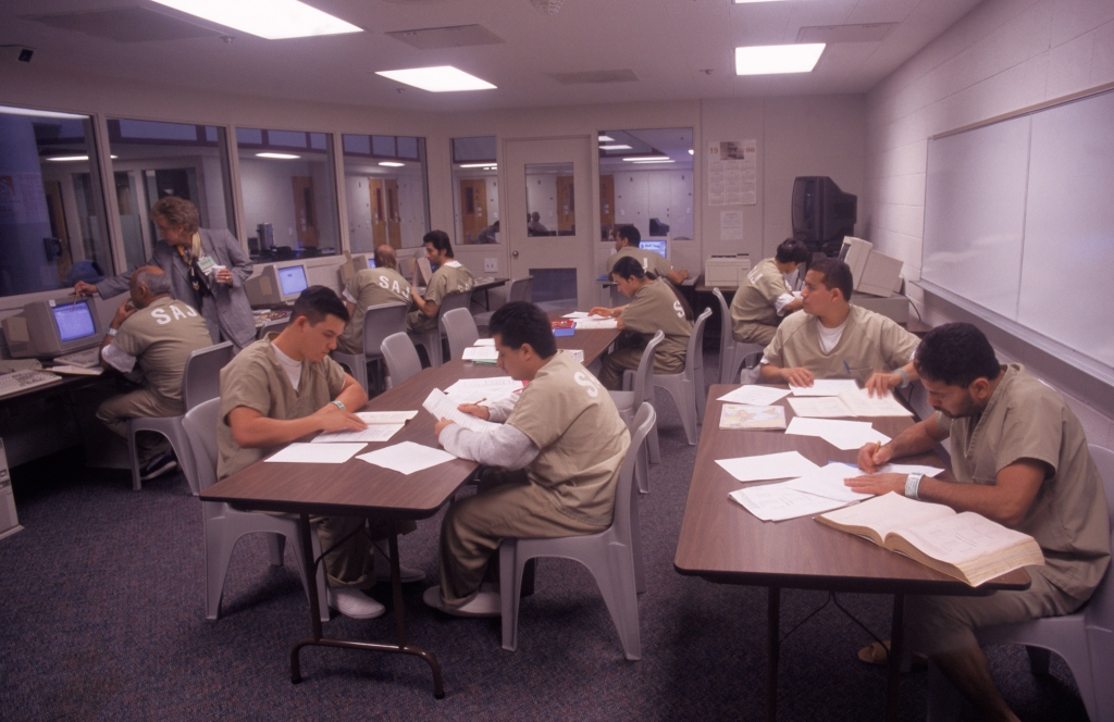 Inmates in study program, Santa Ana, CA