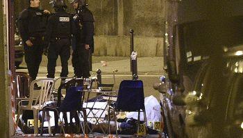 Paris terror attacks - scene