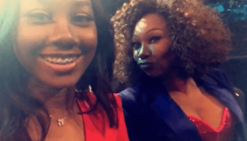 Yolanda Adams & her daughter Taylor at the Grammys