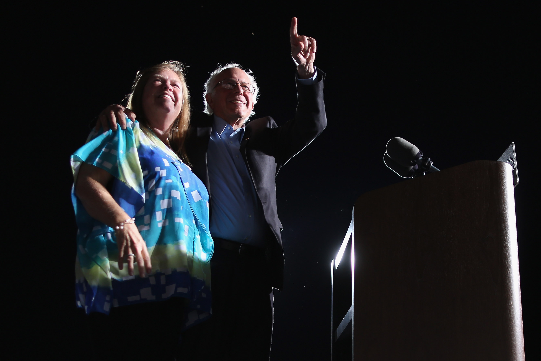 Bernie Sanders Holds Campaign Rally At Virginia Fairground