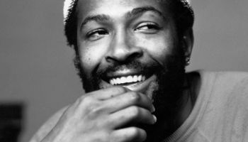 Marvin Gaye Portrait Wearing White Cap