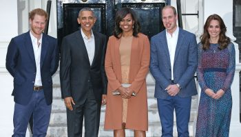 The Obamas Dine At Kensington Palace