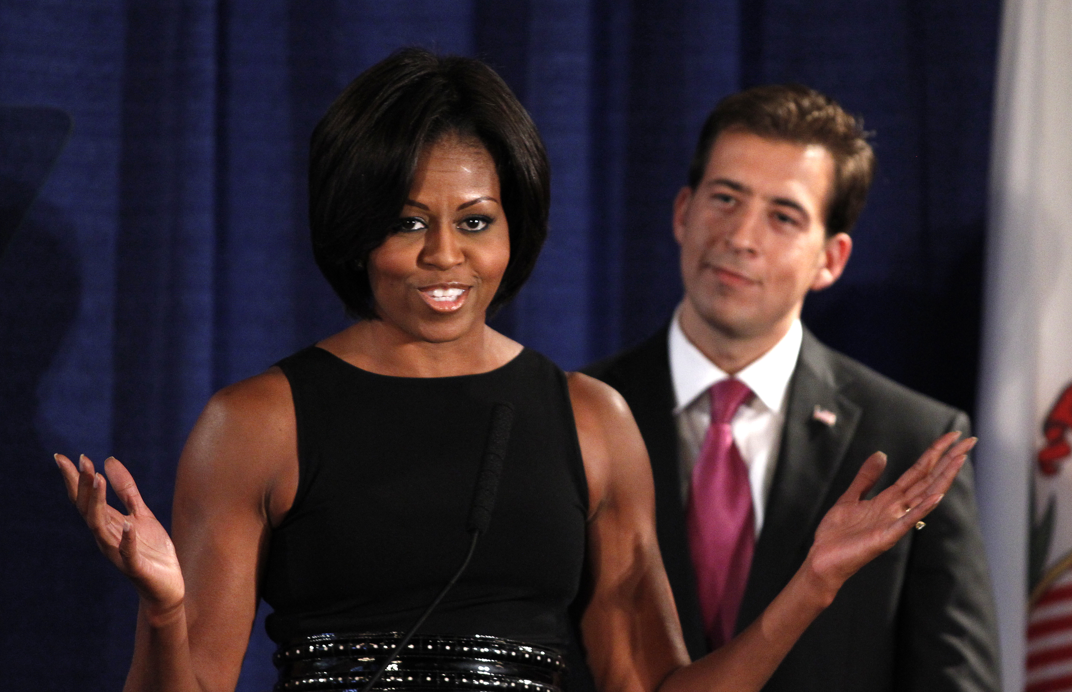 Michelle Obama Campaigns For Illinois Senate Candidate Alexi Giannoulias