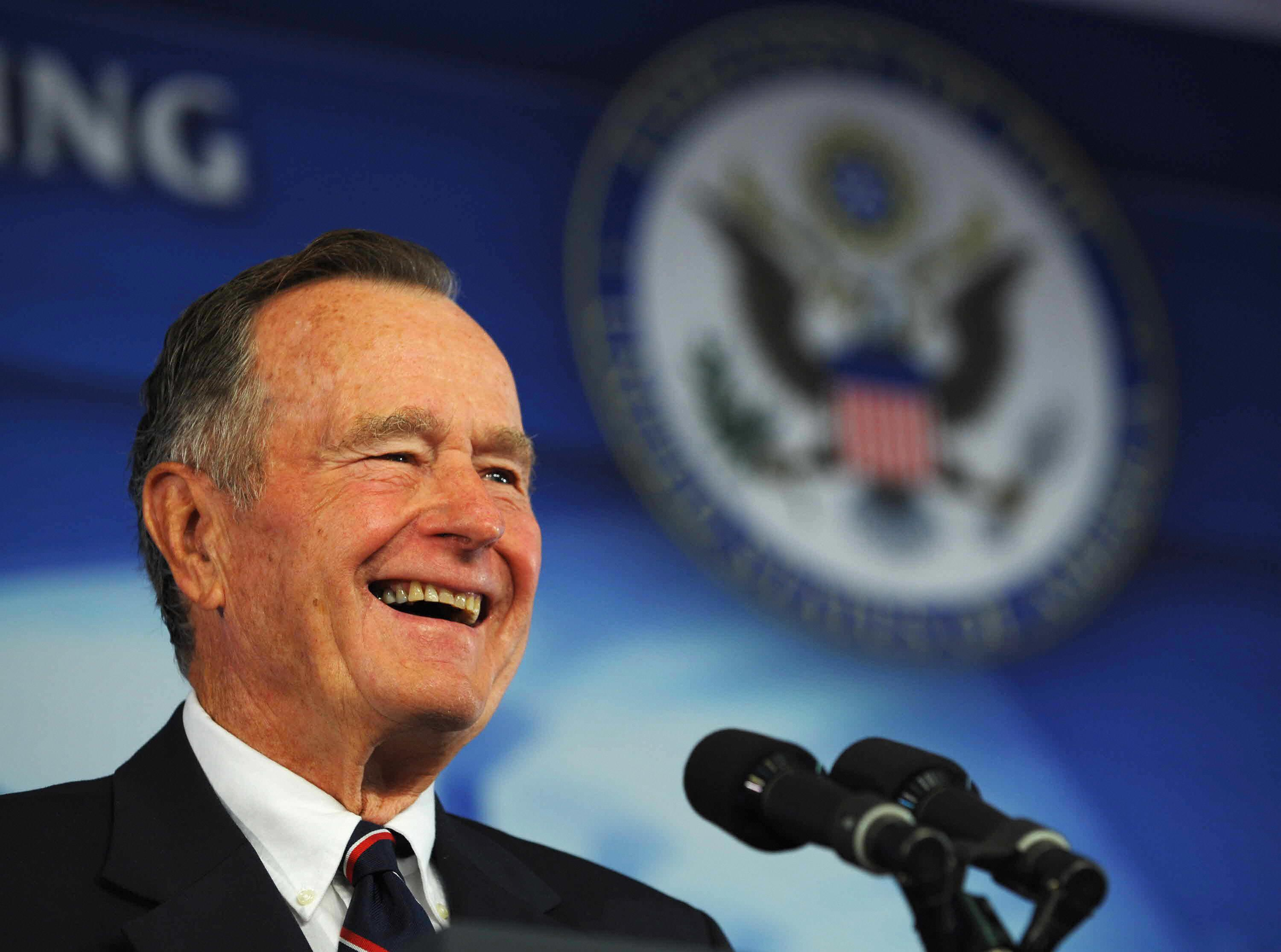 Former US president George H. W. Bush in