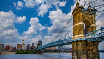 John A. Roebling Suspension Bridge and Cincinnati