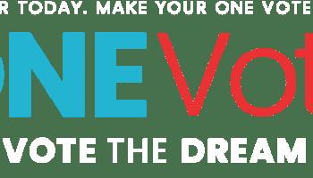 One Vote 2018 Logo Header
