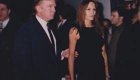 Donald Trump & Melania Knauss Trump at Playboy's 45th.