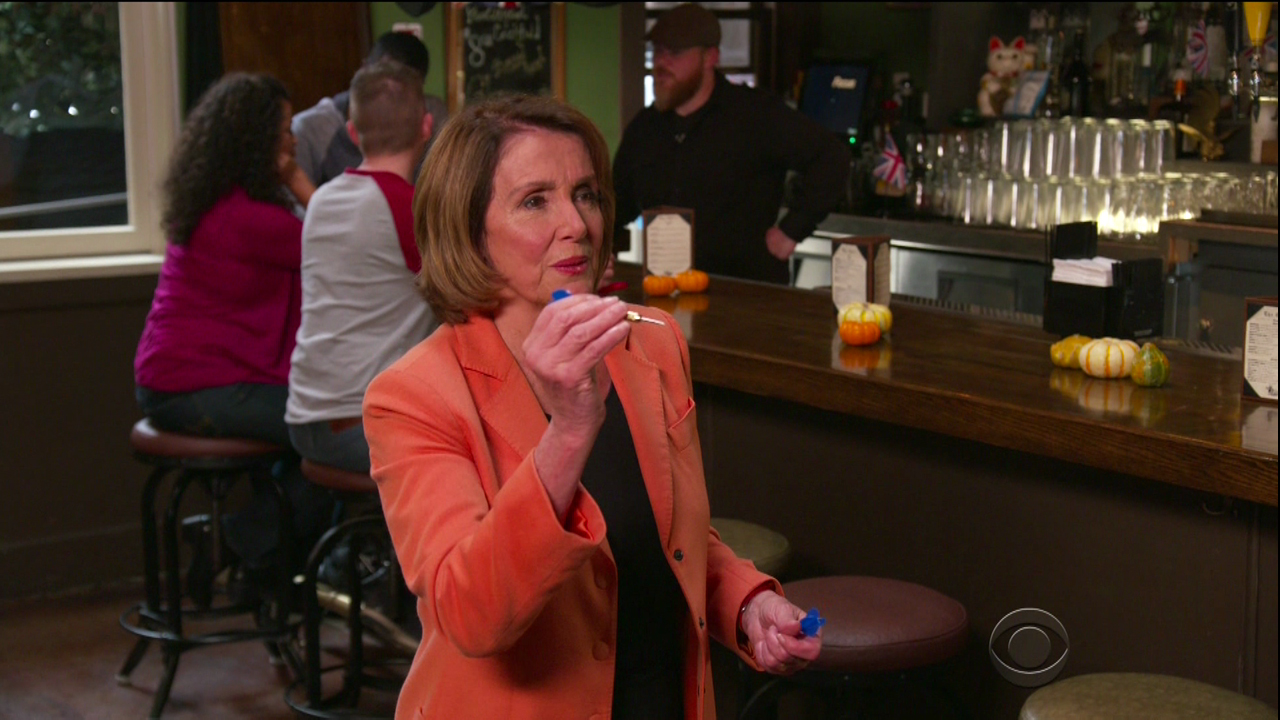 Nancy Pelosi during an appearance on CBS' 'The Late Late Show with James Corden.'