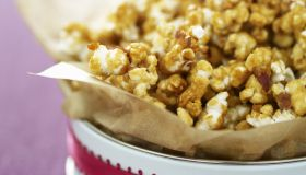 Gift of homemade caramel popcorn