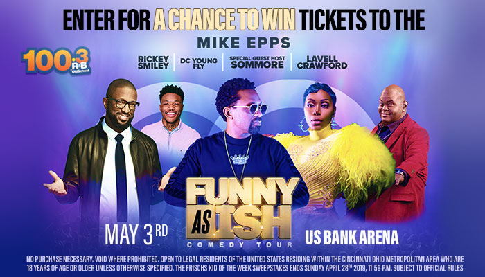 Local: Win Tickets to the Funny As Ish Tour_RD Cincinnati_RD Cincinnati WOSL_April 2019