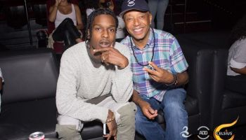 A$AP Rocky and Russell Simmons