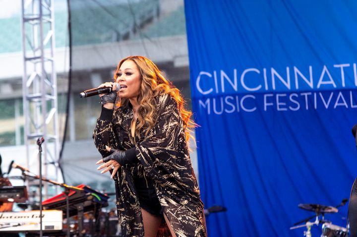 Tamia at the 2019 Cincinnati Music Festival