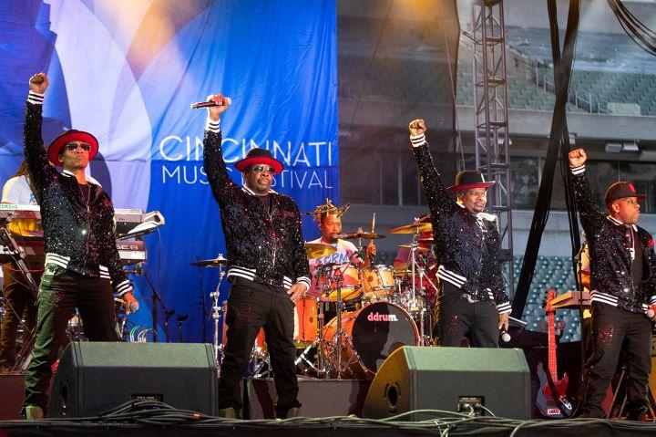 Ronnie Bobbie Ricky Mike at the 2019 Cincinnati Music Festival