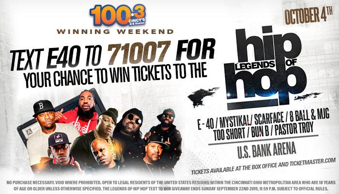 Legends of Hip Hop Winning Weekend