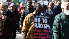 Large march by trade unionists and UAF to protest racism
