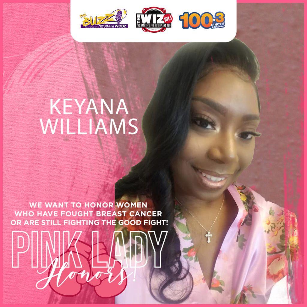 Keyana Williams Pink Lady Honoree