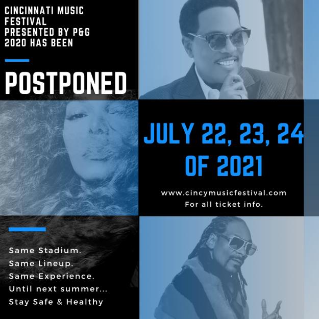 Cincinnati Music Festival 2021 postponed