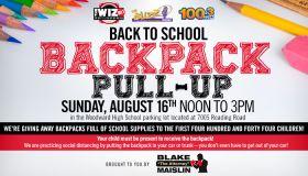 Radio One Back 2 School Backpack Pull-Up Cincinnati